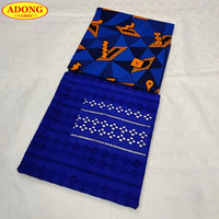 ADONG Latest Hollow Out Design Blue Swiss Lace Fabric 2 Yards Embroidery African Cotton Fabric 3 Yards Swiss Wax For Party Dress