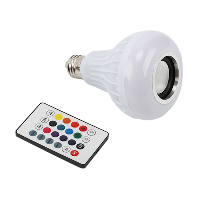 Colorful Light Bulb Speaker  BlueTooth + Remote Control + White Light Function Novelty Lighting New
