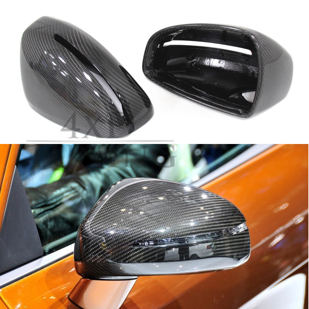 1:1 Replacement For Audi R8 2007 2008 2009 2010 2011 2012 2013 2014 2015 2016 2017 Carbon Fiber Mirror Cover Rear View car rear trunk security shield shade cargo cover for nissan qashqai 2008 2009 2010 2011 2012 2013 black beige