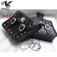 1 pairs Square Motorcycle Saddle bag & Luggages saddlebag Prince Regal Raptor cruise vehicle side box edge motorcycle knight hot
