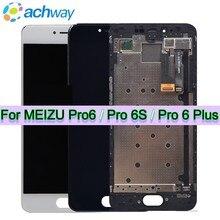 100% тестирование нового Meizu Pro 6 Pro 6 S Pro 6 Plus ЖК-дисплей Экран дисплей + Сенсорный экран планшета Ассамблеи Meizu Pro 6 ЖК-дисплей pro6S Pro 6 plus