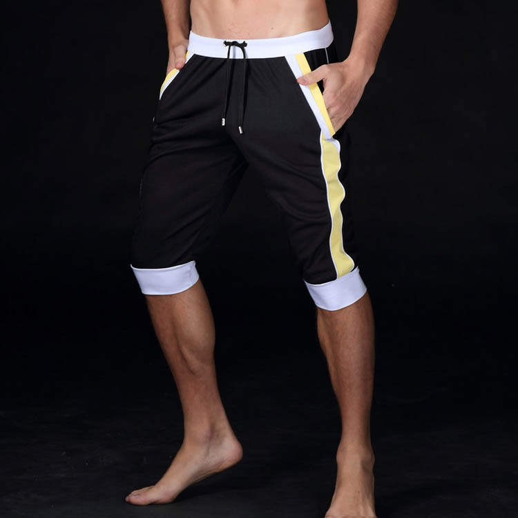 Summer 2019 outdoor jogger Sport elastic Slim Knee Length fitness - Sportswear and Accessories