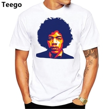 71c86adf111 Jimi Hendrix t shirt Men Print T-Shirts Fashion Print T-Shirts Short Sleeve
