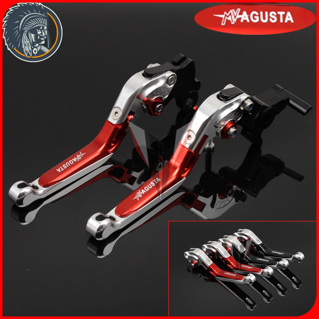 7a4512e67b GHOST RIDER For MV AGUSTA Brutale 675 800 Motorcycle Accessories Adjustable  Folding Extendable Brake Clutch Levers