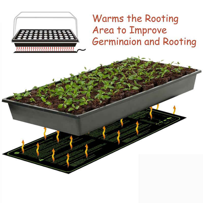 Seedling Heating Mat Waterproof Plant Seed Germination Propagation Clone Starter Pad Garden Supplies propagator propagation Seedling Heating Mat Waterproof Plant Seed Germination Propagation Clone Starter Pad Garden Supplies propagator propagation
