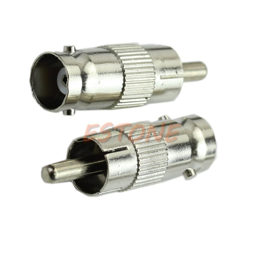 C18 2015 newest 20PCS BNC Female to RCA Male AV Straight Adapter Connector Silver Tone кабель orient для камер видеонаблюдения cvap 20 видео bnc аудио rca питание 20 м oem