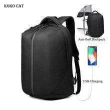 цена на Business Laptop Backpack USB Charging Anti Theft Backpack Men Travel Backpack Teenager Waterproof School Bag Male Mochila