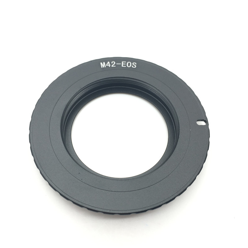 New AF III Confirm M42 Lens to for <font><b>EOS</b></font> Adapter For <font><b>Canon</b></font> Camera EF Mount ring 60D <font><b>550D</b></font> 600D 7D 5D 1100D Black <font><b>Accessories</b></font> image
