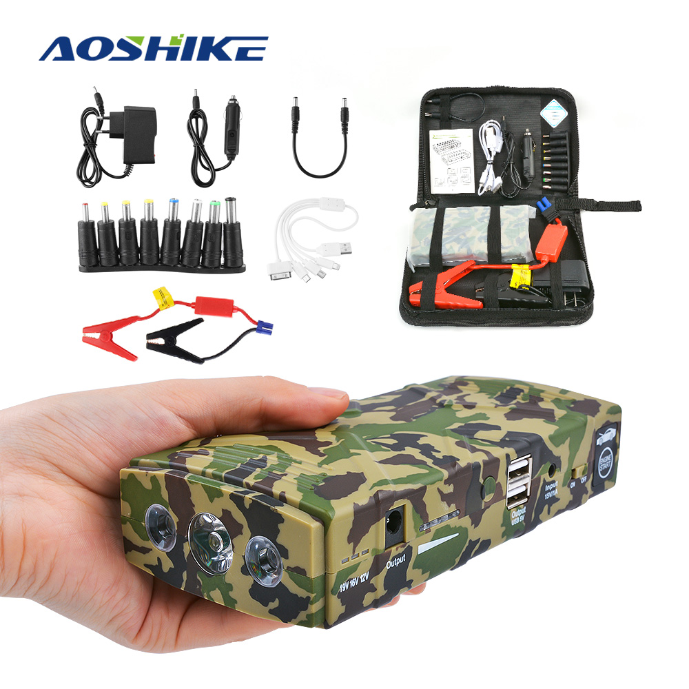AOSHIKE High Jump Starter Charger Battery 12V 600A Peak Current Dual USB 89800mAh With Three Light US EUAOSHIKE High Jump Starter Charger Battery 12V 600A Peak Current Dual USB 89800mAh With Three Light US EU