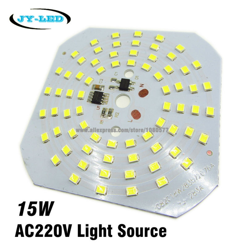 10pcs 15W SMD2835 220v Lamp Plate Integrated IC Driver High Bay Light LED PCB, Directly Neednt Driver Light Source Panel