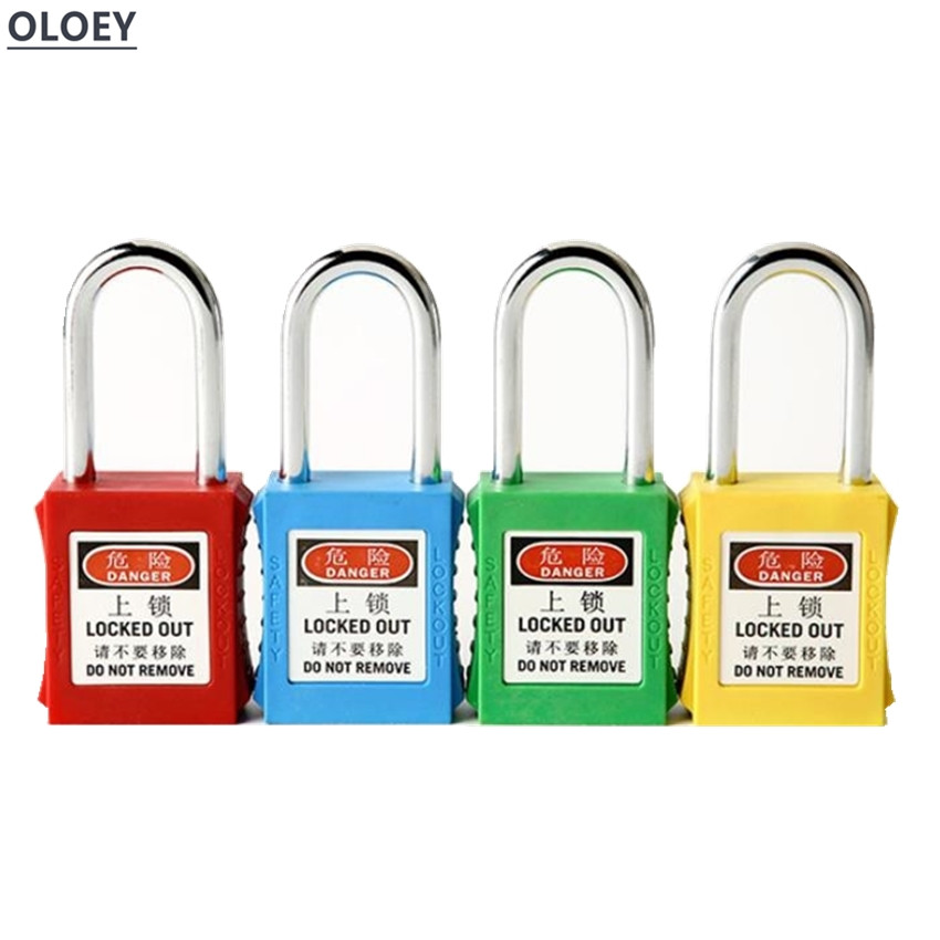 Each One Engineering plastic insulation font b padlock b font safety lockout tag lock energy isolation