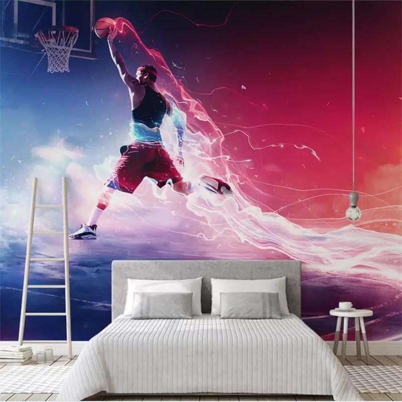Cool Basketball Wallpapers: Beibehang Custom Wallpaper Cool Basketball Slam Dunk