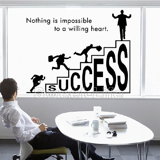 Free shipping company culture success wall stickers for office wall stickers home decors home decoration decal sticker p164 in wall stickers from home