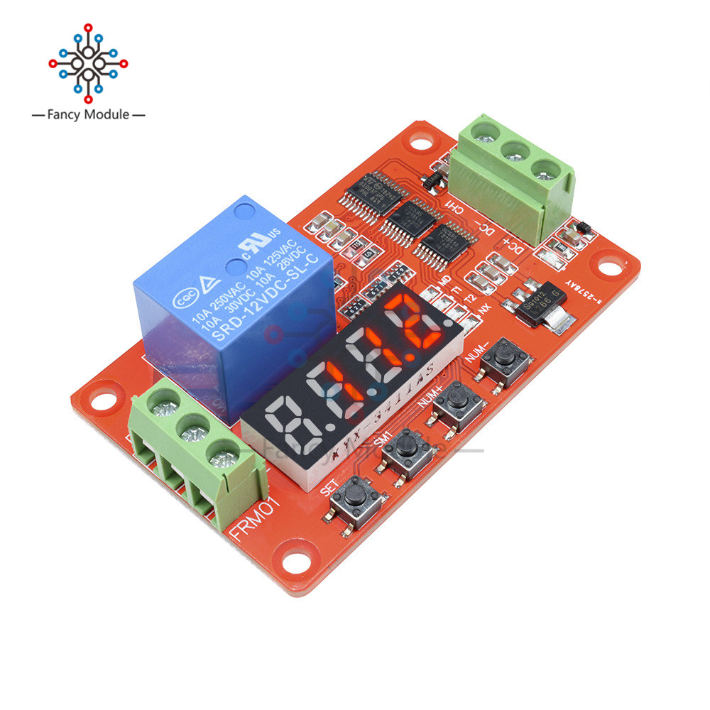 12V DC Multifunction Auto-lock Relay PLC Cycle Timer Time Delay Switch Module12V DC Multifunction Auto-lock Relay PLC Cycle Timer Time Delay Switch Module