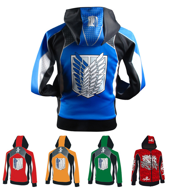 2158d2c08127 Attack on Titan Shingeki no Kyojin Scout Regiment Street Clothes Anime  Customized Cosplay Costume Spring Season Hooded Jacket