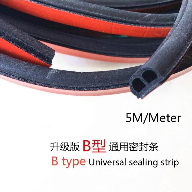 5m Universal B Type Type Car Exterior Door Seal Strip Anti Dust
