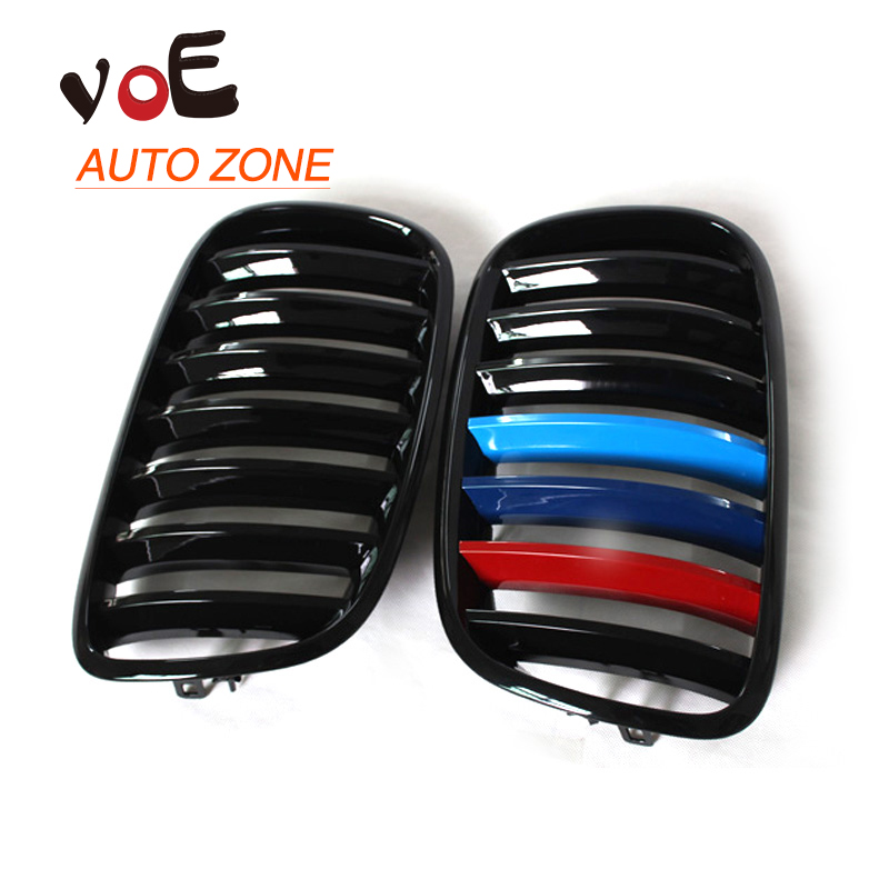 2007-2013 Kidney Shape Gloss 3-color ABS Plastic E70 E71 Original Style X5 X6 Front Racing Grill Grille for BMW E70 X5 E71 X6 e70 black abs kidney racing grille for bmw 2007 2013 x5 series e70