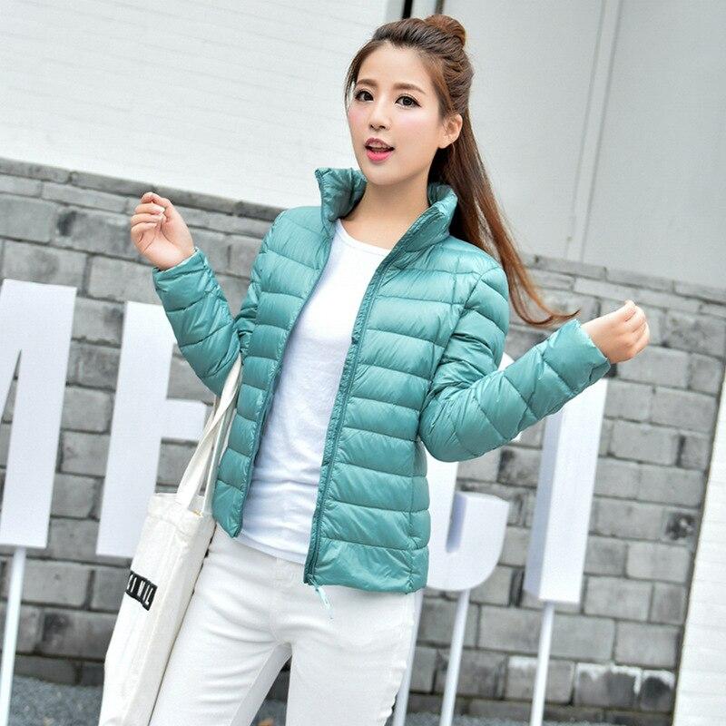 2017 New Women Winter Coat Fashion 90% White Duck Down Jacket Ultralight Portable Slim Coat Female Winter Jackets Parkas