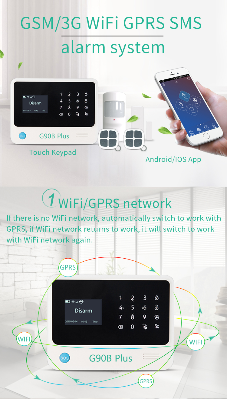 HTB1YlfrKf9TBuNjy0Fcq6zeiFXaz - Free shipping from Russian Spain 3g gsm wifi alarm Android IOS mobile phone control smart home burglar alarm system