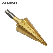 6-35mm HSS Titanium Coated 13 Step Drill Bit Drilling Power Tools for Metal High Speed Steel Wood Hole Cutter Step Cone Drill world new machine for drilling needle set lever adjustable lever 2 35mm gold plated high speed steel twist drill