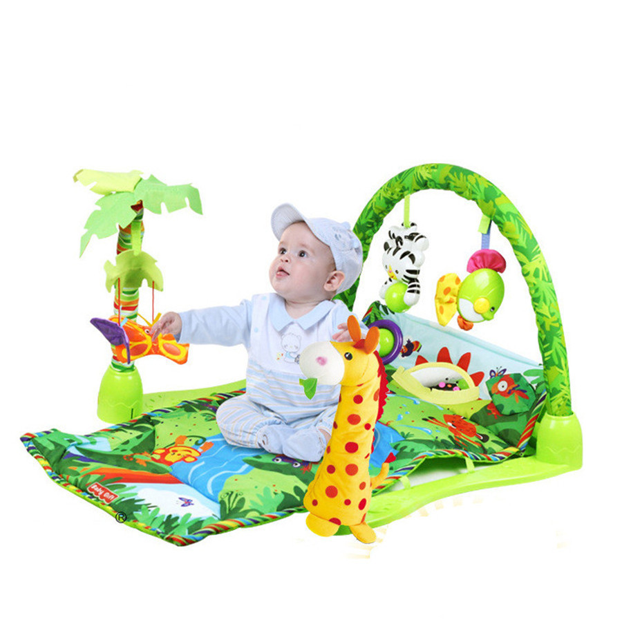 Delicate Music Sound Farm Animal Kids Baby Play Playing Mat Carpet activity forest Play mat Gym Toy baby game mat grow up gift