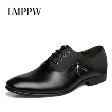 New Men Business Dress Shoes Pu Leather Men's Shoes Top Quality Breathable Men Oxfords Shoes British Style Fashion Men Flats 2A