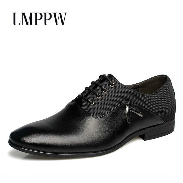 c0ec0cc4dce placeholder New Men Business Dress Shoes Pu Leather Men s Shoes Top Quality Breathable  Men Oxfords Shoes British