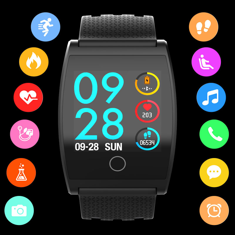BOAMIGO Smartwatch Per Android IOS Phone Braccialetto Intelligente di Frequenza Cardiaca Calorie Promemoria Cronografo Degli Uomini di Sport Della Vigilanza Smartwatch