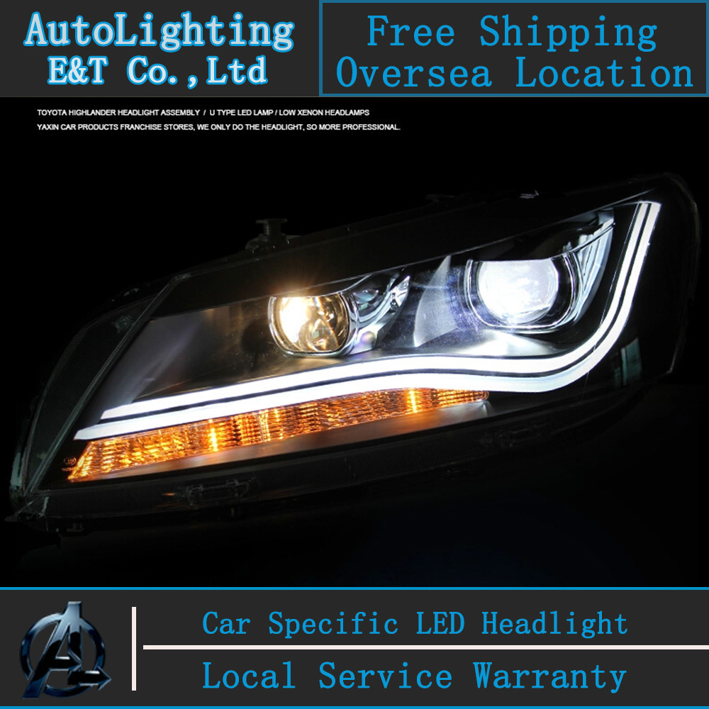 Car styling LED Head Lamp for VW Passat B7 led headlight assembly 2012-2014 US Type Volks Wagen drl H7 with hid kit 2 pcs. набор автомобильных экранов trokot для vw passat b7 2010 2014 на передние двери tr0408 01