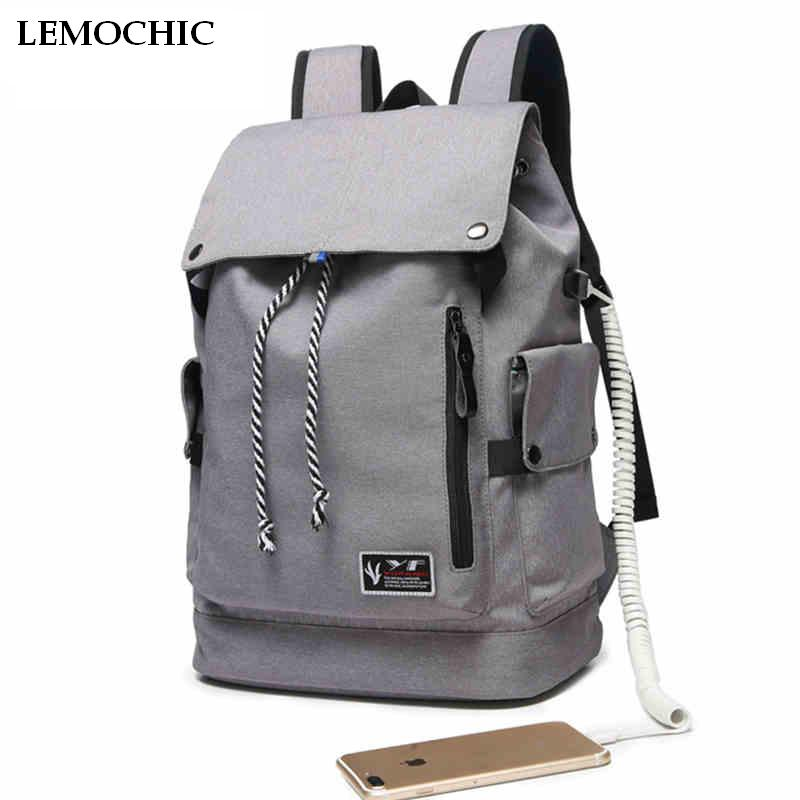 LEMOCHIC Anti Theft Waterproof Computer pack battery USB Charging Port Laptop Backpack With Headphone Plug Business Travel Bag hot new battery 12n 1600scb 12n1600scb 12n 1600scb 14 4v 1600mah battery pack with plug