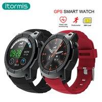 Itormis Bluetooth gps Смарт часы Smartwatch sim карты телефон часы Фитнес сердечного ритма трекер Мульти Спорт режим для IOS и Android
