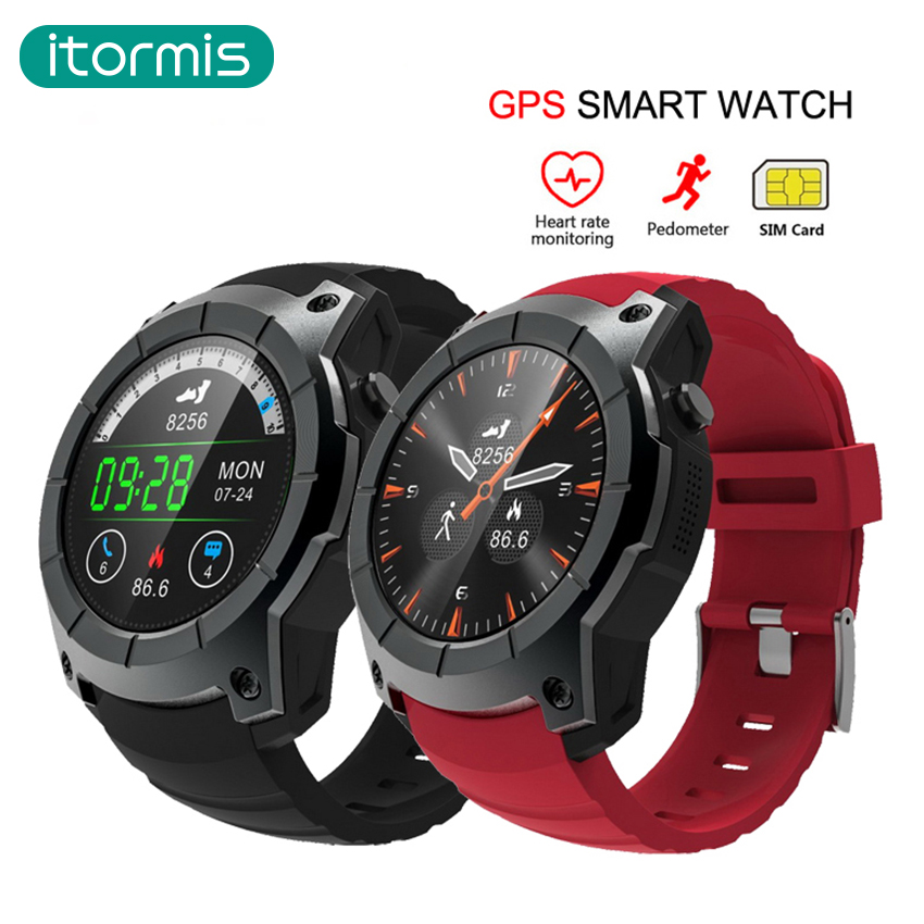 itormis Bluetooth GPS Smart Watch Smartwatch SIM Card Phone Watch Fitness Heart Rate Tracker Multi Sport Mode for Android IOS itormis bluetooth gps smart watch smartwatch sim card phone watch fitness heart rate tracker multi sport mode for android ios
