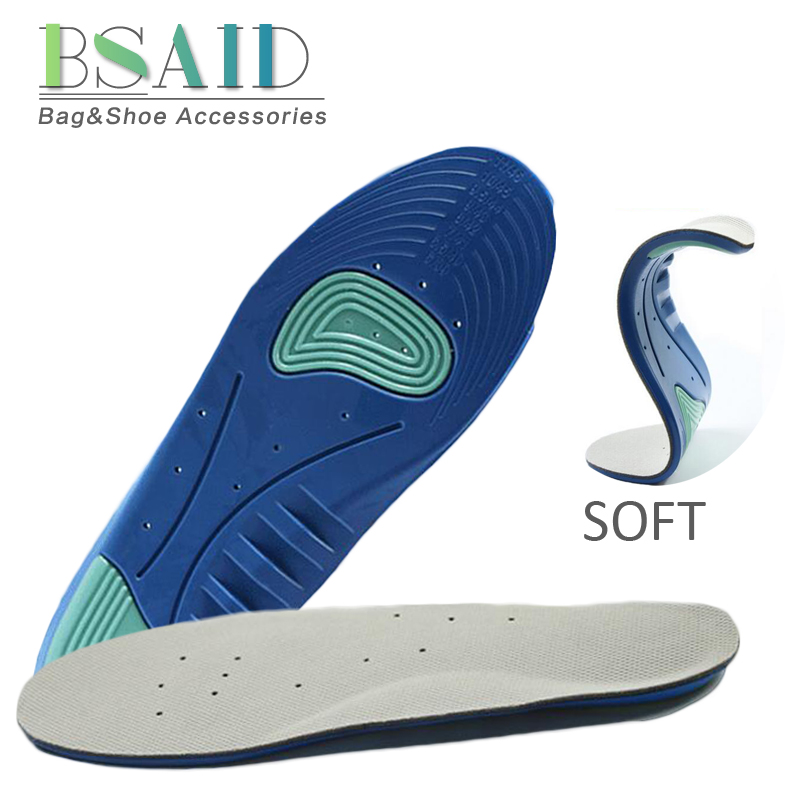 BSAID Silicone Insoles For Shoes Soft Breathable Shoe Insole Unisex Sneakers Non-slip Gel Insoles Shoe Pad Foot Sport Protection soumit 5 colors professional yoga socks insoles ballet non slip five finger toe sport pilates massaging socks insole for women