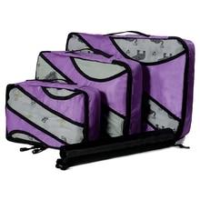 QIUYIN Unisex Clothing Sorting Organize Nylon Packing Cube Travel Bag System Durable 3 Piece Set Large Capacity Of Wholesale