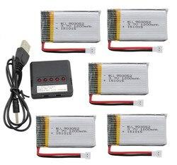 Upgraded 5pcs 3.7v 1200mah Li-Po Battery + charger for SYMA X5SW X5SC X5S X5SC-1 M18 H5P RC Quadcopter Free Shipping