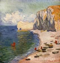 Peinture sur toile de la plage et la Falaise, cadeau de noël, de haute qualité, faite à la main