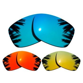 3db224f9db (Azul + rojo naranja + 24 K oro espejo revestimiento) 3-pares polarizadas  lentes para Júpiter cuadrado 100% UVA y UVB protección
