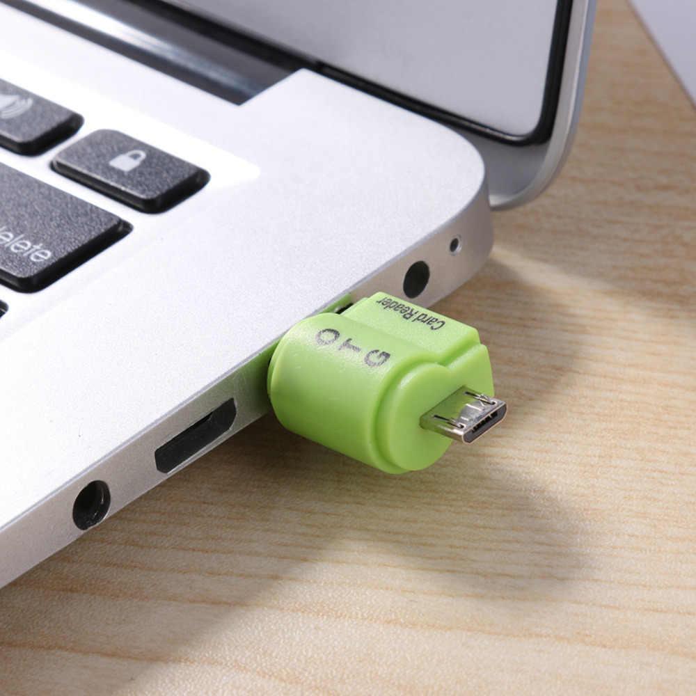 Dual 2 In 1 OTG Card Reader USB 2.0 Adaptor Kartu SD TF Cardreader untuk Notebook