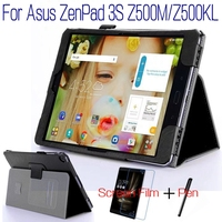 Fashion Top Quality Stand Smart PU Leather Cover For Asus ZenPad 3S 10 Z500M Z500KL 9