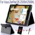 """Moda top qualidade stand capa de couro pu inteligente para asus zenpad 3 s 10 z500m z500kl 9.7 """"tablet case + protetor free screen + caneta"""