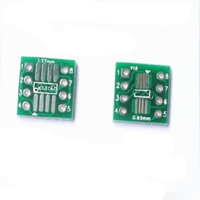 50pcs SMD To DIP Adapter Converter SOP8 SSOP8 TSSOP8 Adapter Board Module Adapters Plate 0.65mm 1.27mm