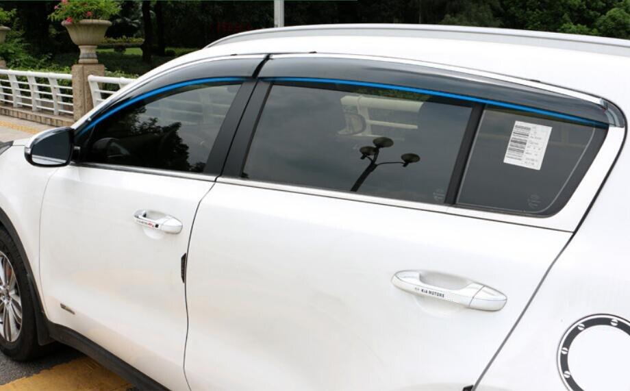 For KIA Sportage QL 2016 2017 Car Window Visor Rain Shield Protector ...