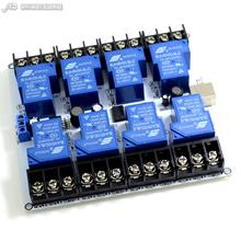 8channel 30A power relay module usb serial control device to control the power centralized intelligent management