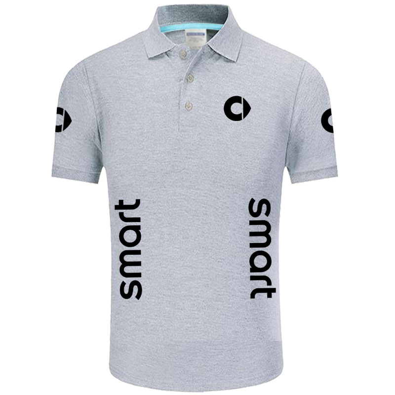 Summer High quality brand SMART logo   polo   short sleeve shirt Fashion casual Solid   Polo   Shirt unisex shirts