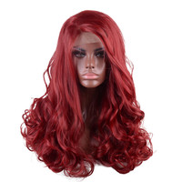 StrongBeauty Women's Red Lace Front wigs Long Curly Hair Synthetic Heat Resistant Fiber Full Wigs