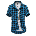 Summer New Men's Wear Brand Men's Fashion High Quality Leisure Big Yards Men High-Grade Pure Cotton Shirts With Short Sleeves