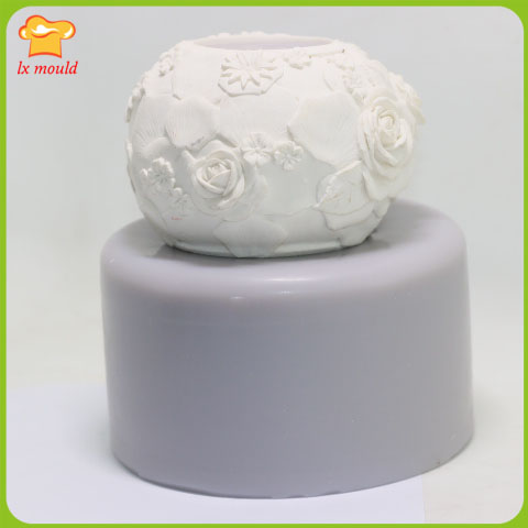LXYY silicone mold chocolate candles Handmade soap salt carving DIY baking mold rose ball