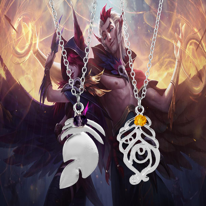 2019 Hot Game League Legends Toy XAYAH And RAKAN Couples Necklace Toy LOL Jewelry Charms Cosplay Fans Toys For Children