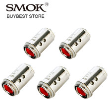 5pcs SMOK Stick AIO Core Replacement Coil Head 0.23ohm Dual Coil for Stick AIO All-in-1 Vape Kit Massive Clouds & Smooth Airflow