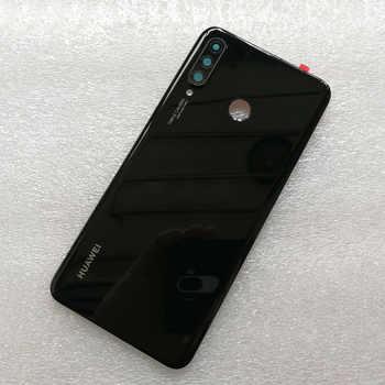 New Original Tempered Glass Back Cover For Huawei P30 Lite/Nova 4E Spare Parts Back Battery Cover Door Housing + Camera frame